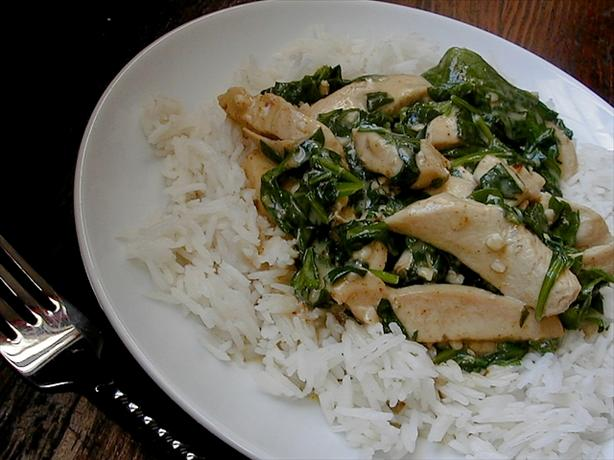 Garlic Curry Chicken And Spinach Recipe - Indian.Food.com