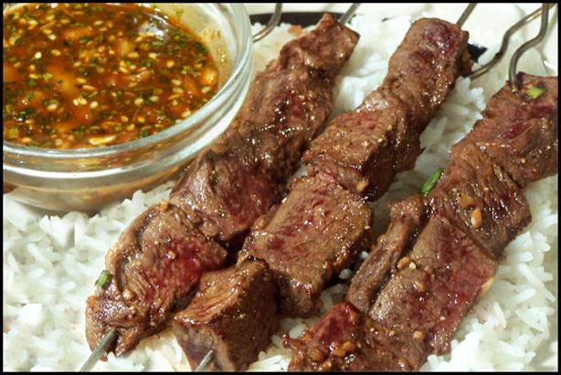 Asian Beef Skewers - 3 Points. Photo by NcMysteryShopper