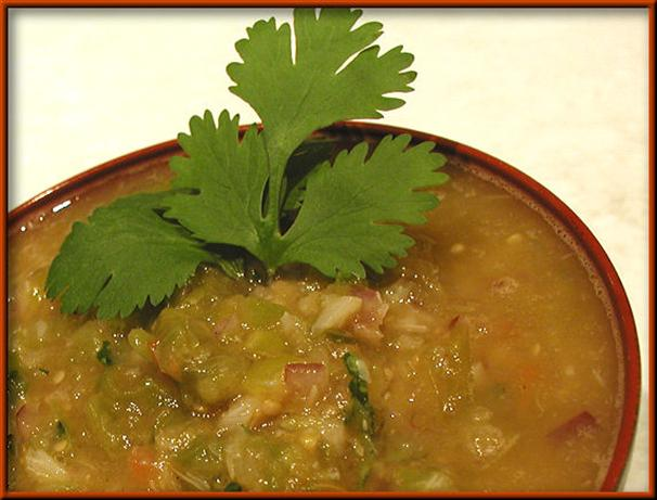 Roasted Tomatillo Salsa. Photo by Sandi (From CA)