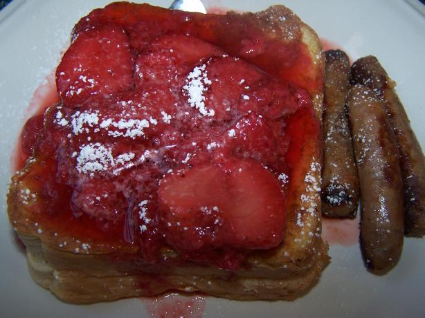 Strawberry Cheesecake Stuffed French Toast. Photo by Munchkin Mama