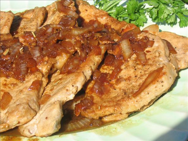Balsamic-Glazed Pork Chops. Photo by Charmie777