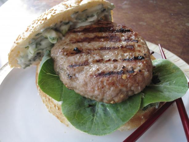 Grilled Pork Burgers Indochine. Photo by CaliforniaJan