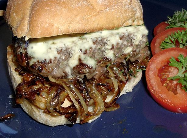 ... andouille burgers with asiago cheese recipe yummly blue cheese burgers