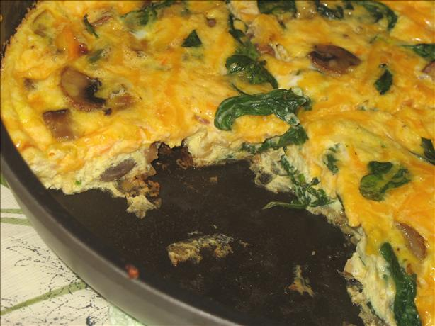 Veggie Frittata With Spinach and Mushrooms. Photo by Lori Mama
