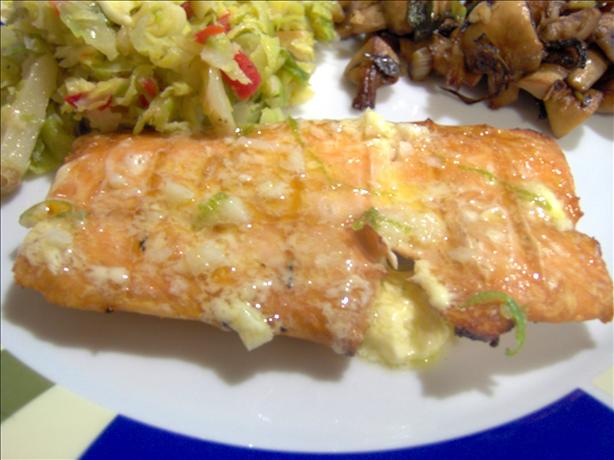 Grilled Salmon With Lime Butter Sauce. Photo by Sharon123