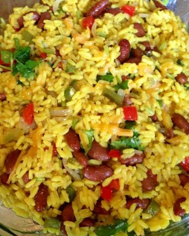 Mexican Yellow Rice and Black Beans. Photo by Guyanesegyal