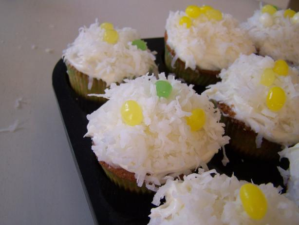 Coconut Cupcakes With Cream Cheese Frosting. Photo by Rae England
