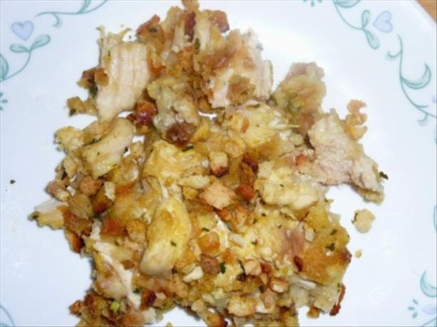 Easy Chicken and Stuffing Casserole. Photo by BLUE ROSE