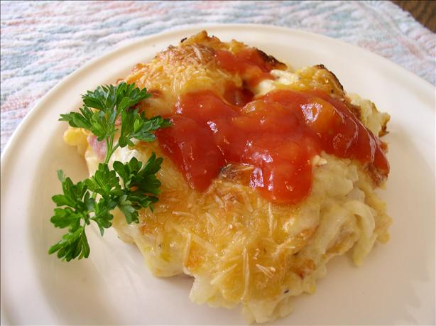Cheesy Ham Hash Browns Casserole. Photo by Bayhill