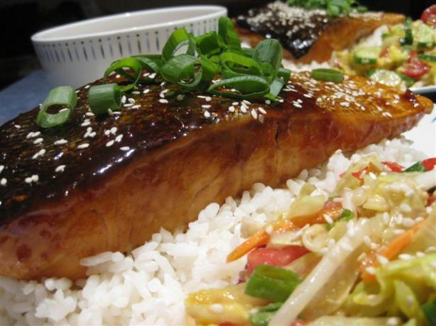 Honey Ginger Teriyaki Salmon. Photo by Chickee