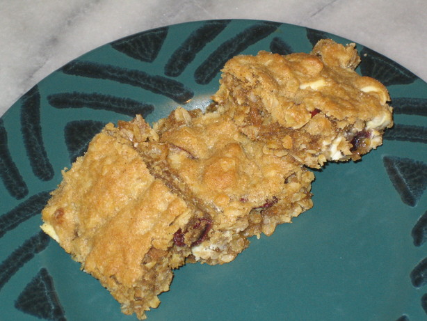 Chewy Cherry Vanilla Oatmeal Cookie Bars. Photo by pattikay in L.A.