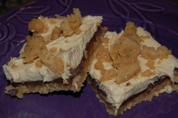 Chocolate-Cream Cheese-Peanut Butter Bars Cookie Mix) Recipe - Food ...