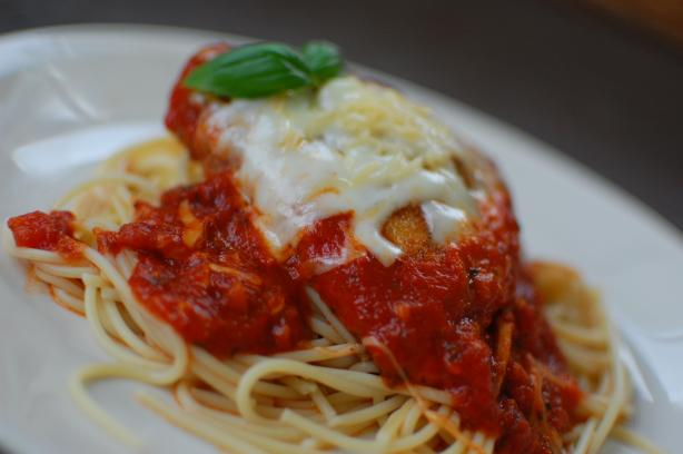 Chicken Parmesan. Photo by run for your life