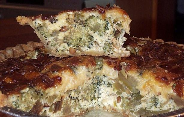 Roasted Broccoli, Bacon Quiche. Photo by BarbryT