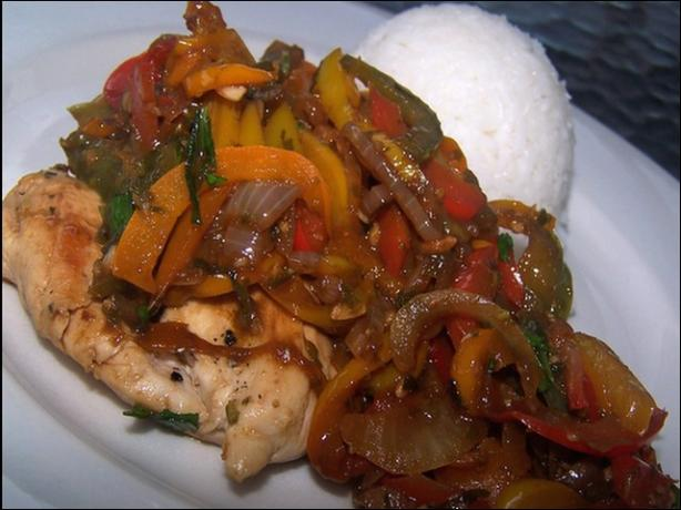 Chicken With Sweet Peppers and Balsamic Vinegar. Photo by **Jubes**
