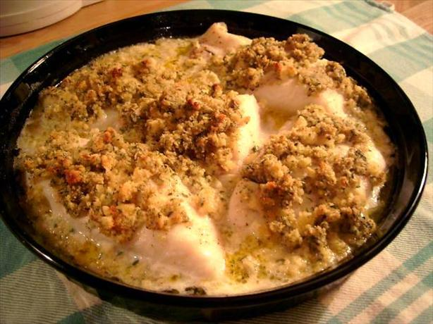 Baked Haddock With Mustard Crumbs. Photo by CulinaryQueen