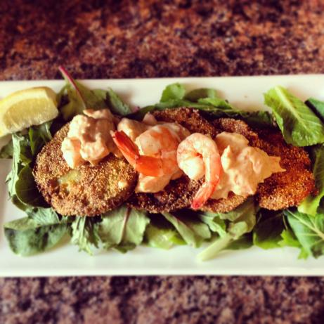Fried Green Tomatoes With Crawfish Or Shrimp Remoulade Recipe - Soul ...