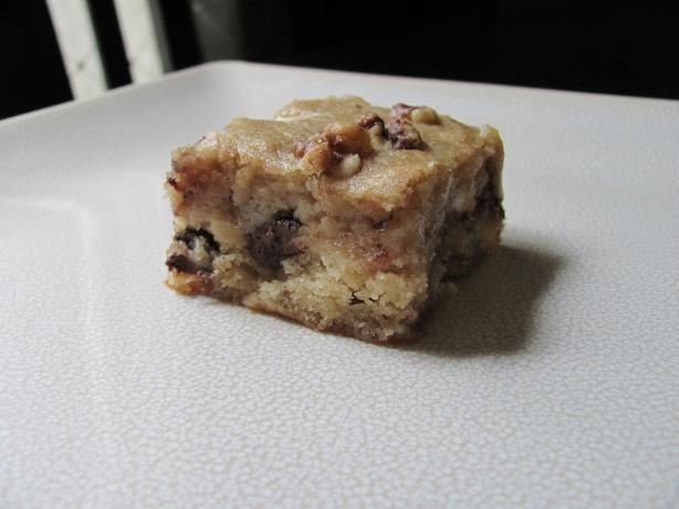 Banana Blondies With Chocolate Chips And Walnuts Recipe - Food.com
