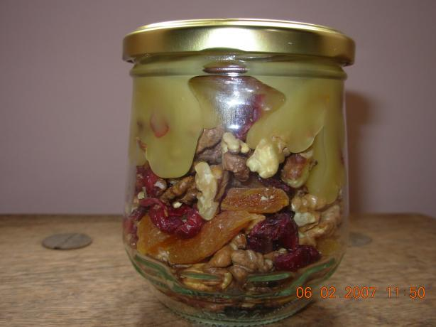 Honey, Walnut, And Dried-Fruit Topping Gift In A Jar) Recipe - Food ...