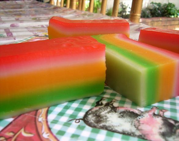 Japanese Layered Cake Recipe: Steamed Rainbow Layer Cake Recipe
