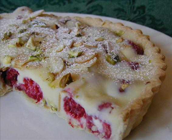 White Chocolate-Raspberry Tart, With Almonds and Pistachios. Photo by ...