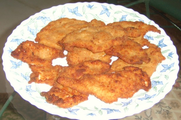 Fried breaded chicken breast