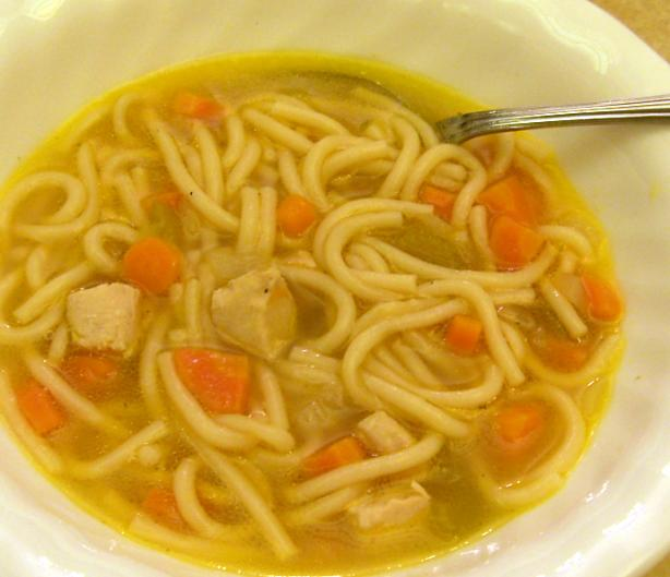 Quick Chicken Noodle Soup. Photo by Shahana