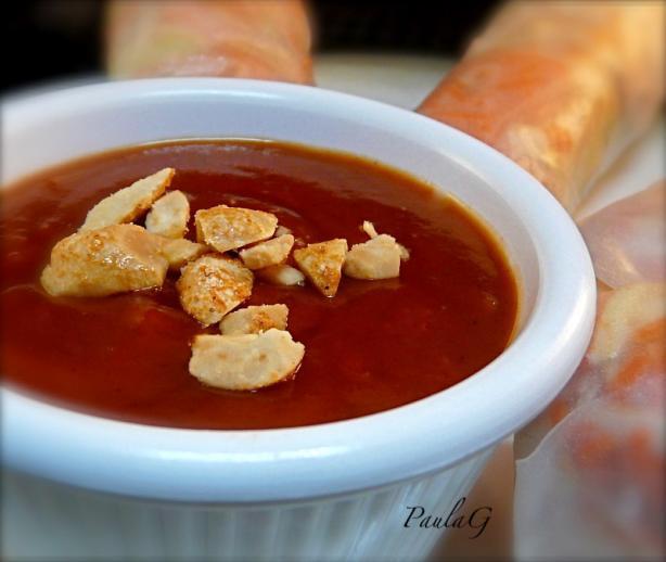 Vietnamese Spring Roll Dipping Sauce Vietnamese Peanut Sauc...