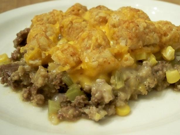 Tater Tot Casserole. Photo by *Parsley*