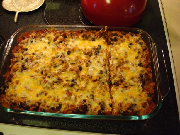 Turkey (Or Beef) Enchilada Casserole. Photo by Kelly0412