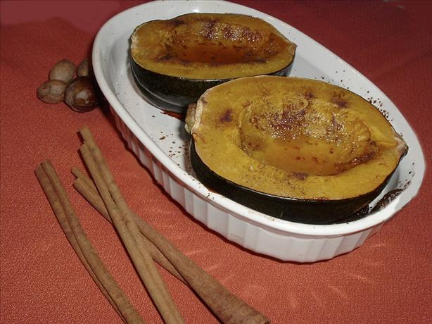 Baked Acorn Squash With Spicy Maple Syrup Recipe - Food.com