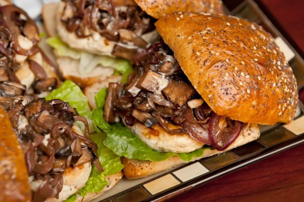 Roasted Garlic Turkey Burger W Portabella Mushrooms Recipe - Food.com
