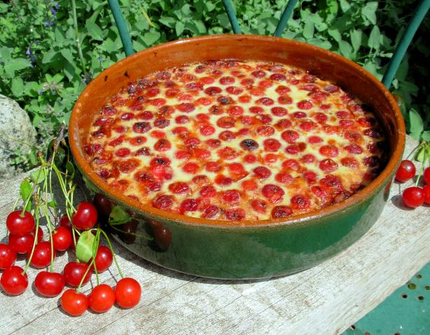 French Cherry Clafouti Pudding - French Cherry Custard Bake. Photo by ...