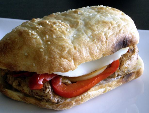 Balsamic Glazed Chicken And Bell Pepper Sandwiches Recipe - Food.com