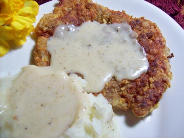 Chicken-Fried Steak With Cream Gravy. Photo by Chef shapeweaver