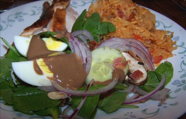 Kittencal's Spinach Salad With Balsamic Honey-Dijon Vinaigrette. Photo ...