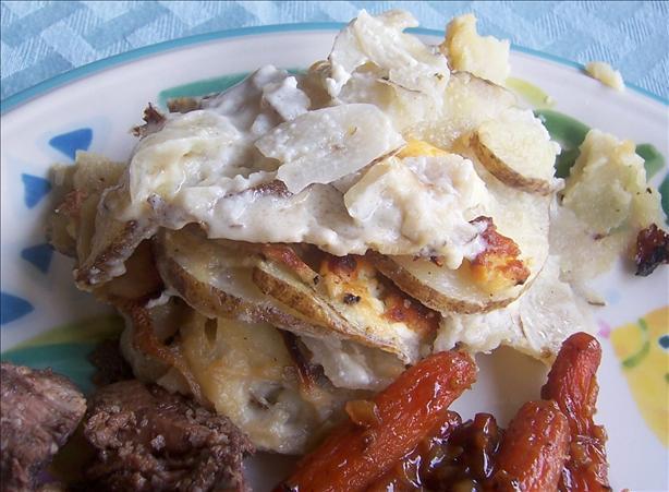Potato, Caramelized Onion, And Goat Cheese Gratin Recipe - Food.com