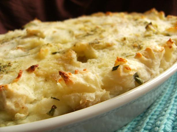 Mashed Potato, Cheese and Chive Gratin. Photo by Lalaloula