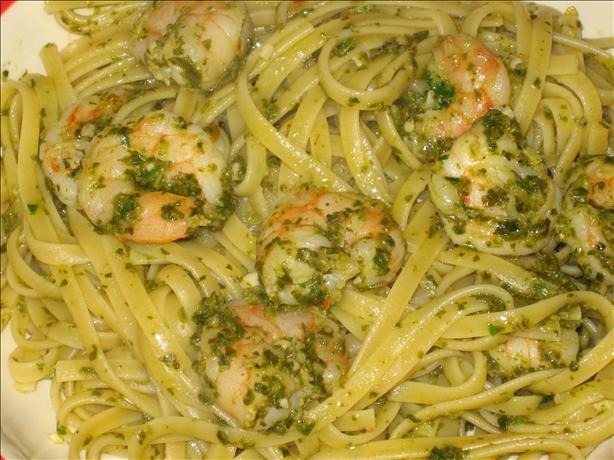 Shrimp Scampi Verde Pasta. Photo by Super San Mateo Chefs