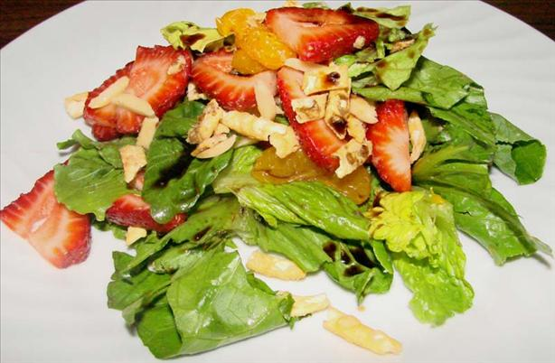 Easy Strawberry-Mandarin Asian Salad. Photo by Boomette