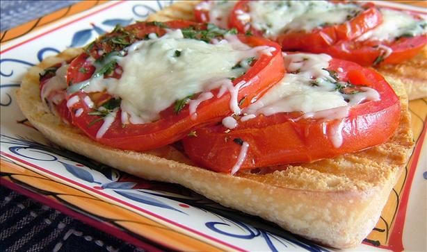 Italian Bruschetta With Herbed Mozzarella & Garlic Tomatoes. Photo by ...