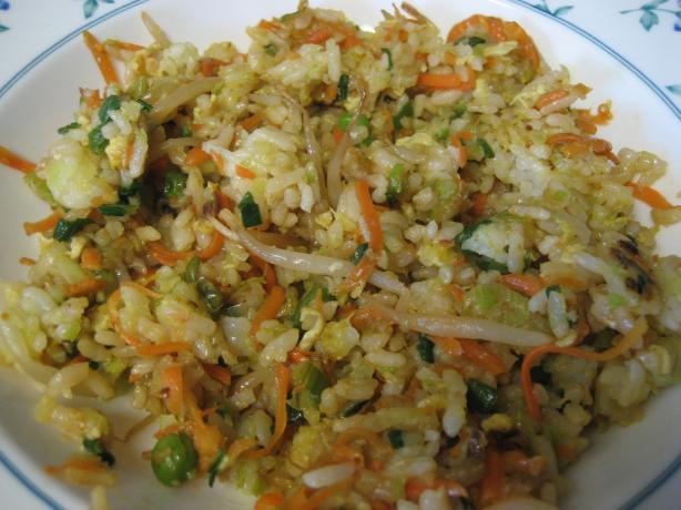 Vegetable Fried Brown Rice Vegetable fried brown rice.