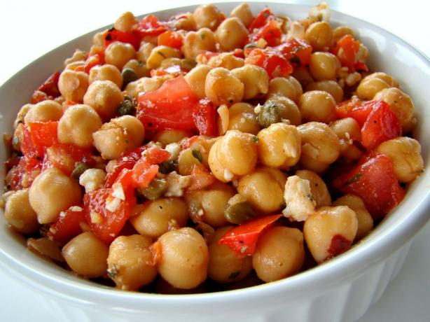 Chickpea Salad With Cumin Vinaigrette. Photo by Marg (CaymanDesigns)