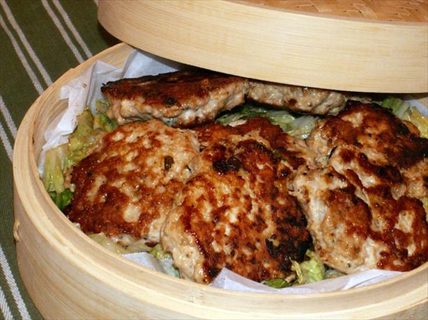Mu Shu Chicken Patties With Seared Napa Cabbage. Photo by CraftScout