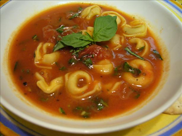 Tomato-Basil Tortellini Soup. Photo by cookiedog
