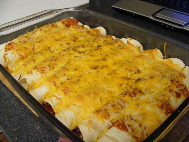 Dad's Favorite Chicken Enchiladas. Photo by Chef #1270890