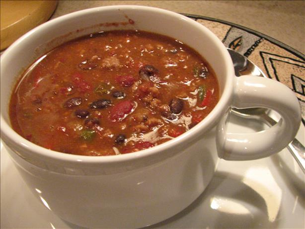 Three Bean and Beef Chili (Light). Photo by Galley Wench