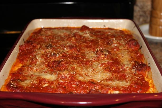 Baked Meatball Lasagna. Photo by Chef Jeff S