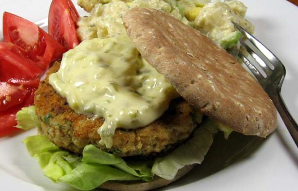 Fish burgers with fresh herbs recipe for Fish burger near me