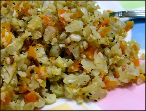 """Cauliflower Confetti """" Rice """". Photo by Kitty Z"""